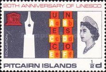 [The 20th Anniversary of UNESCO, type BL]