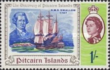[The 200th Anniversary of the Discovery of Pitcairn Islands, type BR]