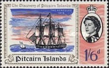 [The 200th Anniversary of the Discovery of Pitcairn Islands, type BS]