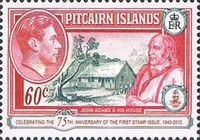 [The 75th Anniversary of the First Pitcairn Islands Postage Stamp, type C1]