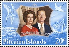[The 25th Anniversary of the Wedding of Queen Elizabeth II and Prince Philip, type DX]