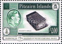[The 75th Anniversary of the First Pitcairn Islands Postage Stamp, type E1]