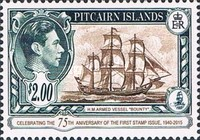 [The 75th Anniversary of the First Pitcairn Islands Postage Stamp, type F1]