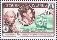 [The 75th Anniversary of the First Pitcairn Islands Postage Stamp, type G1]