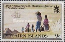 [The 125th Anniversary of Pitcairn Islanders' Migration to Norfolk Islands, type GX]