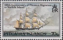 [The 125th Anniversary of Pitcairn Islanders' Migration to Norfolk Islands, type GZ]