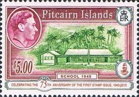 [The 75th Anniversary of the First Pitcairn Islands Postage Stamp, type H1]