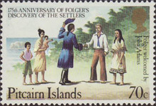 [The 175th Anniversary of Folger's Discovery of the Settlers, type HX]