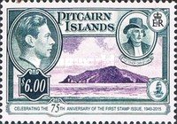 [The 75th Anniversary of the First Pitcairn Islands Postage Stamp, type I1]