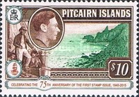 [The 75th Anniversary of the First Pitcairn Islands Postage Stamp, type J1]