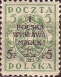 [1st National Stamp Exhibition - North Poland Issues Overprinted, type AF]