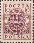 [1st National Stamp Exhibition - North Poland Issues Overprinted, type AF1]