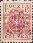 [1st National Stamp Exhibition - North Poland Issues Overprinted, type AF2]