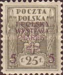 [1st National Stamp Exhibition - North Poland Issues Overprinted, type AF3]