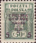 [1st National Stamp Exhibition - North Poland Issues Overprinted, type AF4]