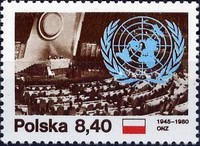 [The 35th Anniversary of the United Nations, type CIP]