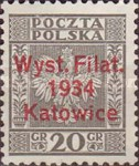 "[Stamp Exhibition, Katowice - Stamps of 1932 Overprinted ""Wyst.Filat. 1934 Katowice""., type CS]"