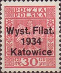 "[Stamp Exhibition, Katowice - Stamps of 1932 Overprinted ""Wyst.Filat. 1934 Katowice""., type CT]"