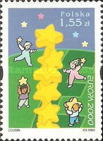 [EUROPA Stamps - Tower of 6 Stars, type DYN]