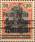 [General Gouvernement Warschau - 3¼ mm Between 2nd and 3rd Bars, type F15]