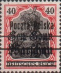 [General Gouvernement Warschau - 3¼ mm Between 2nd and 3rd Bars, type F16]