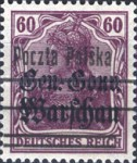 [General Gouvernement Warschau - 3¼ mm Between 2nd and 3rd Bars, type F17]