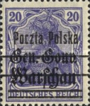 [General Gouvernement Warschau - 3¼ mm Between 2nd and 3rd Bars, type F4]