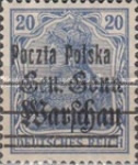 [General Gouvernement Warschau - 3¼ mm Between 2nd and 3rd Bars, type F6]