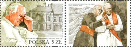 [The 100th Anniversary of the Birth of Pope John Paul II, 1920-2005 - Joint Issue with Slovakia, type IGP]