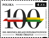[The 100th Anniversary of Diplomatic Relations with Brazil, type IIR]
