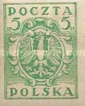 [As Previous - Imperforated South Poland Issues Denomination in Halerzy, type S5]