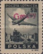 [No 392-397 Overprinted GROSZY in Different Colors and Fonts, type XLF]