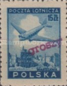 [No 392-397 Overprinted GROSZY in Different Colors and Fonts, type XLF2]