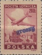 [No 392-397 Overprinted GROSZY in Different Colors and Fonts, type XLF3]