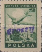 [No 392-397 Overprinted GROSZY in Different Colors and Fonts, type XLF4]