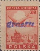 [No 392-397 Overprinted GROSZY in Different Colors and Fonts, type XLF5]