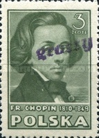 [No. 427 & 429-434 Overprinted GROSZY in Different Colors and Fonts, type XLH2]