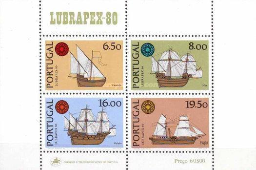 [Ships - International Stamp Exhibition LUBRAPEX '80 - Normal Paper, Typ ]