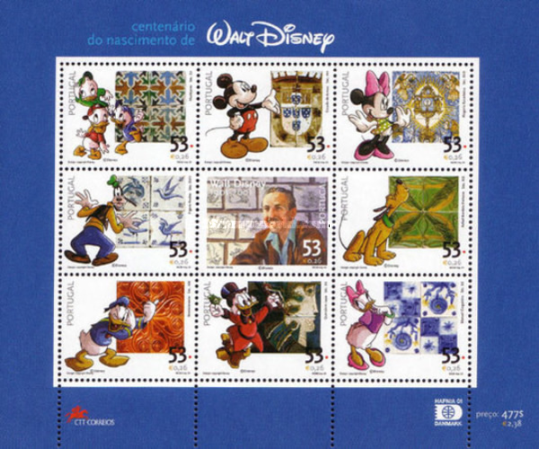 [The 100th Anniversary of the Birth of Walt Disney, 1901-1966, type ]