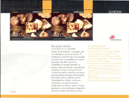[EUROPA Stamps - Gastronomy, type ]
