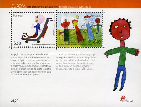 [EUROPA Stamps - Integration through the Eyes of Young People, Childrens Drawings, Typ ]