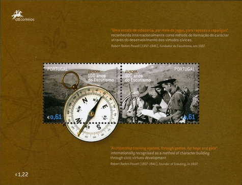 [EUROPA Stamps - The 100th Anniversary of Scouting, Typ ]