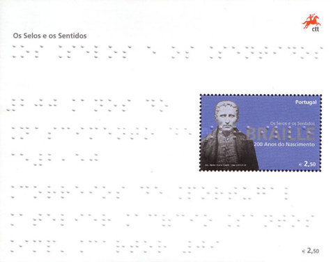 [The Stamp and the Senses - The 100th Anniversary of the Birth of Louis Braille, Typ ]