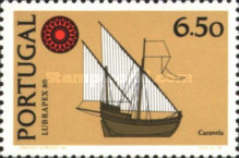 [Ships - International Stamp Exhibition LUBRAPEX '80 - With Flourescent Stripe, type ABV]