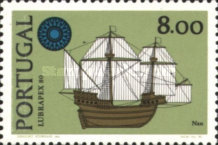 [Ships - International Stamp Exhibition LUBRAPEX '80 - With Flourescent Stripe, type ABW]