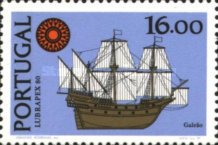 [Ships - International Stamp Exhibition LUBRAPEX '80 - With Flourescent Stripe, type ABX]