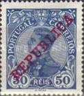 [King Manuel II Stamps of 1910 Overprinted
