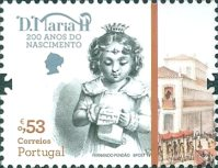 [The 200th Anniversary of the Birth of Queen Maria II of Portugal, 1819-1853, type EMV]