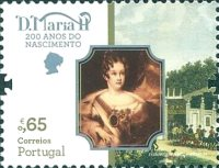 [The 200th Anniversary of the Birth of Queen Maria II of Portugal, 1819-1853, type EMW]