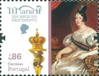 [The 200th Anniversary of the Birth of Queen Maria II of Portugal, 1819-1853, type EMX]